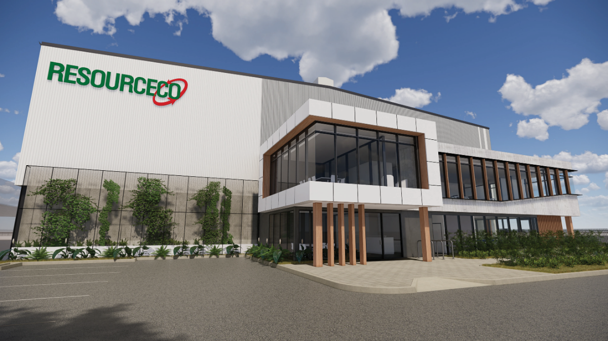 Render of the new Brisbane RRF for ResourceCo